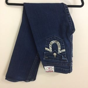 True Religion Billy Straight Leg Jean Zebra Pocket